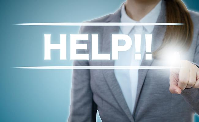 助けを求める被害女性のイメージ